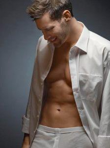 Man Wearing Underwear